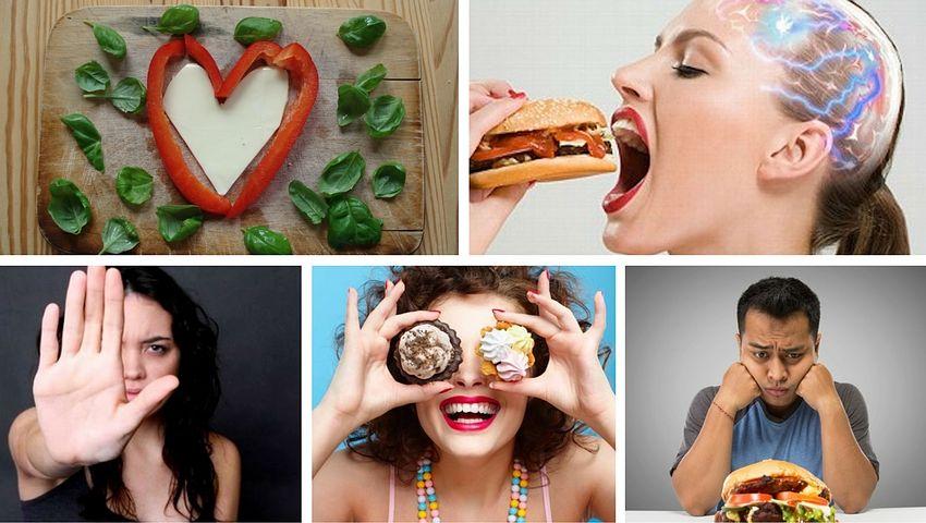 Relación entre las 5 emociones y los alimentos que ingerimos.