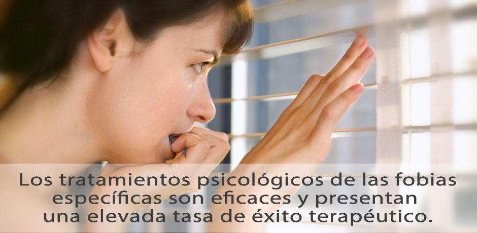 Eficacia en el tratamientos de las fobias específicas
