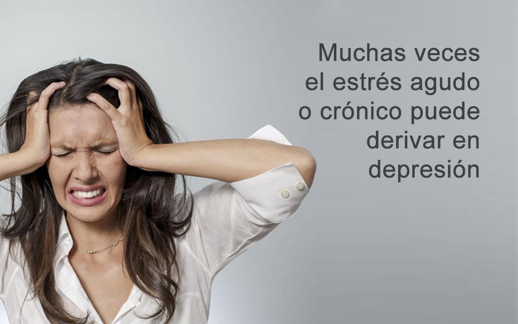 Muchas veces el estrés puede derivar en depresión