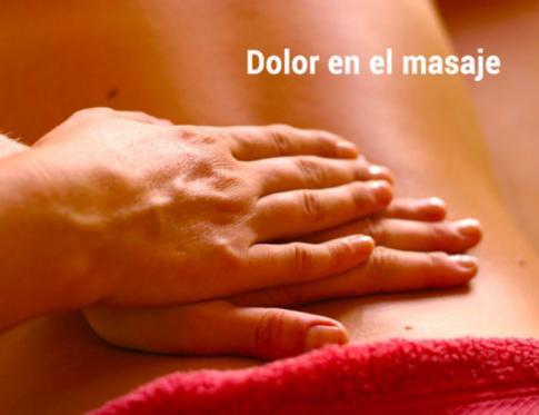 Dolor en el masaje