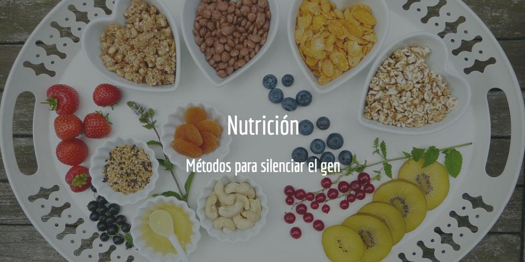 Nutrición - métodos para silenciar el gen
