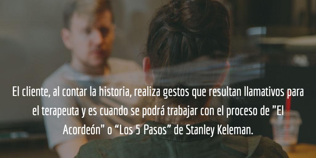 Proceso de El Acordeón o Los 5 Pasos de Stanley Keleman