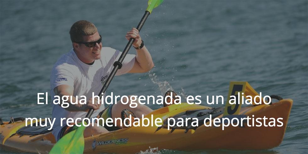 Beneficios del agua hidrogenada en el deporte