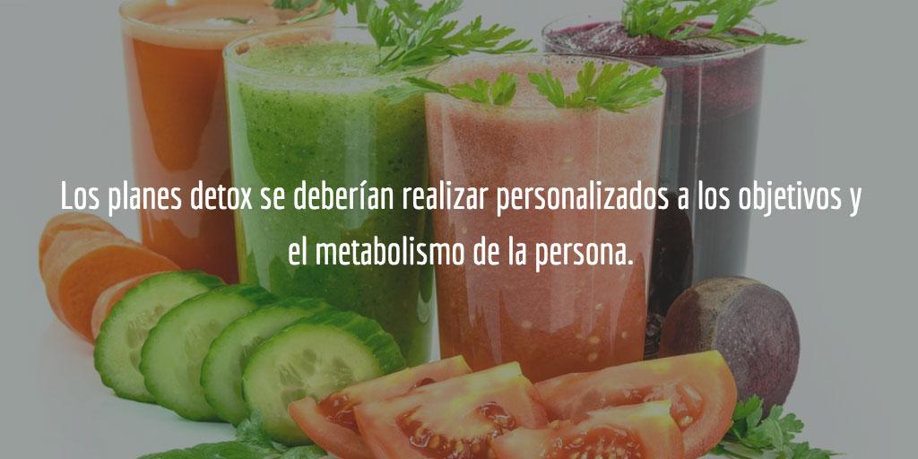 Los planes detox consisten en limpiar al organismo a través de la alimentación