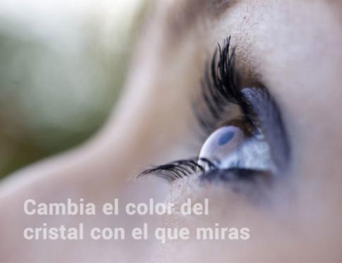 Cambia el color del cristal con el que miras