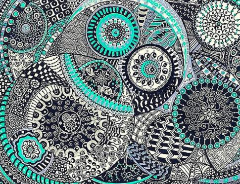 Aprende cómo dibujar Zentangle
