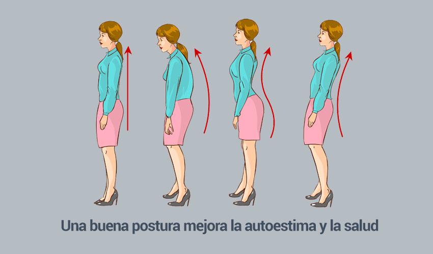Los beneficios de una buena postura: aumenta la autoestima y la salud