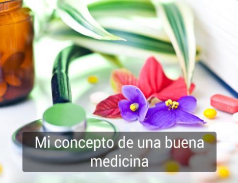 Concepto de una buena medicina