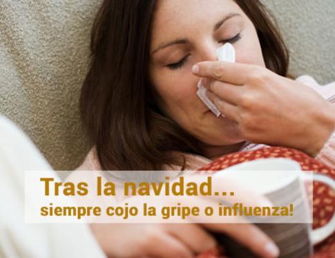 Tras la navidad siempre cojo la gripe o influenza.