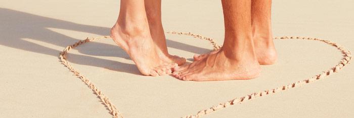 Masajes en los pies para practicar en pareja