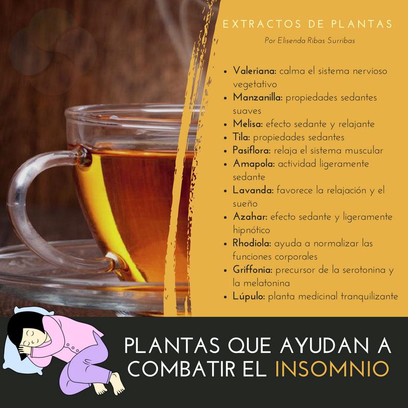 Extractos de plantas que ayudan a reducir el insomnio