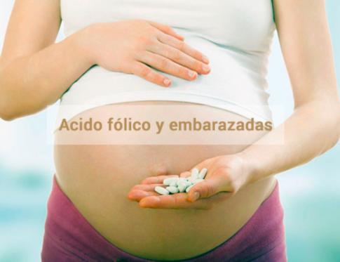 EL consumo de ácido fólico en embarazadas.