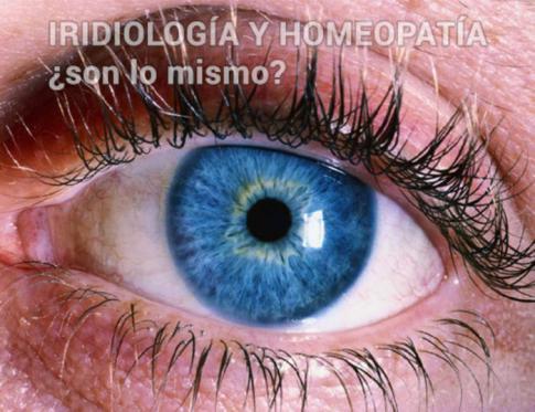 ¿En qué se diferencian iridiología y homeopatía?