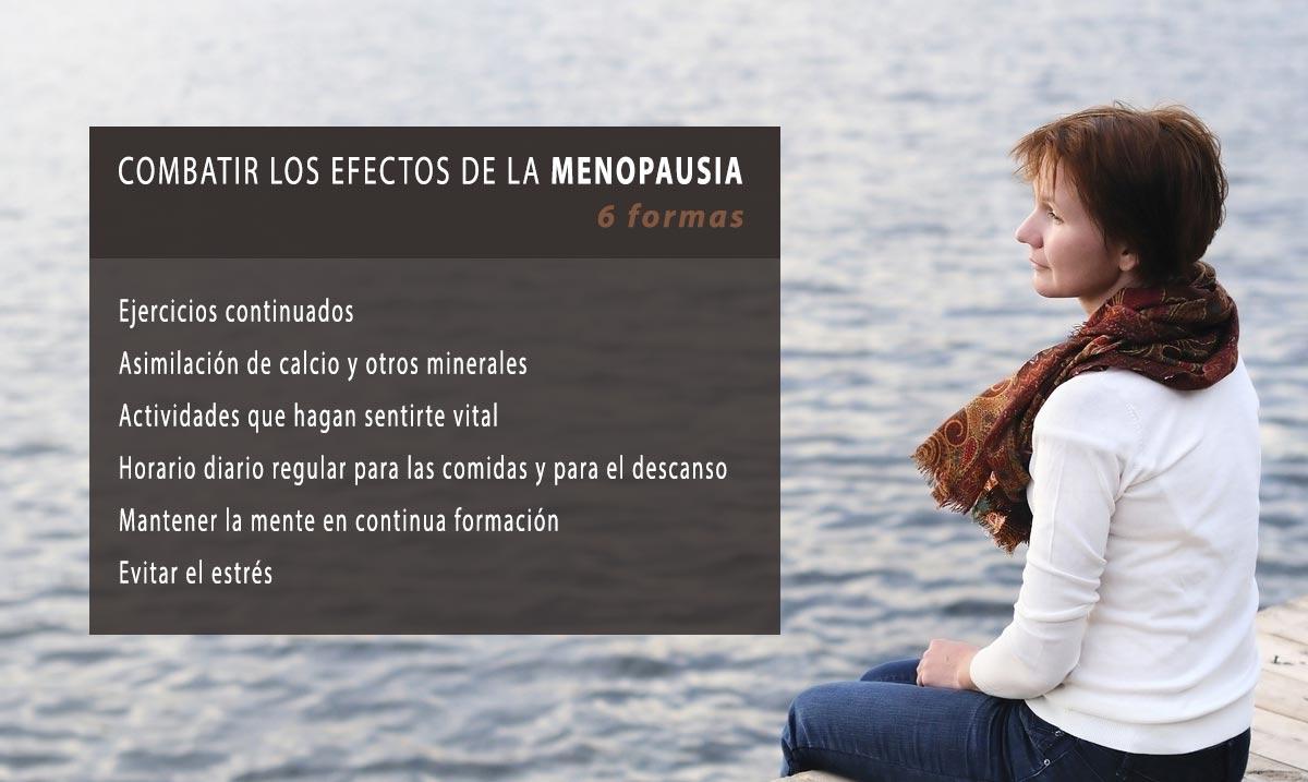 6 formas de combatir los efectos de la menopausia